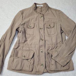 LOFT Khaki Utility Jacket